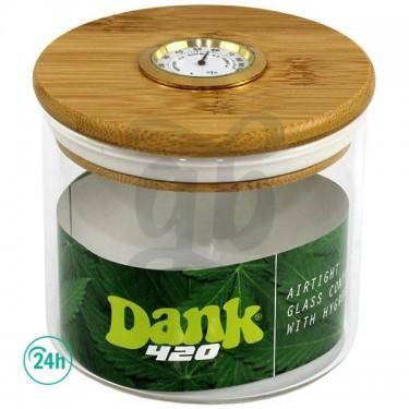 Airtight Dank Glass Jar with Hygrometer