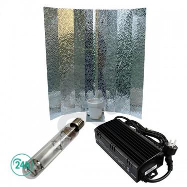 Reflector Estuco, Bombilla Lec 600 W o HPS mixta de 600 W y un balastro