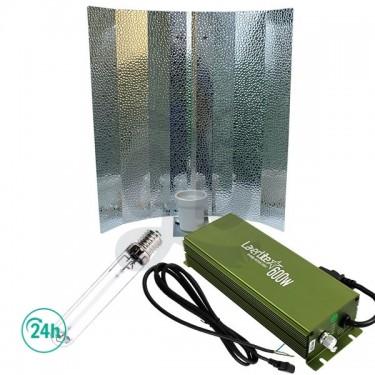 Kit de balastro, reflector con casquillo E40, bombilla HPS o HM y cable plug y play