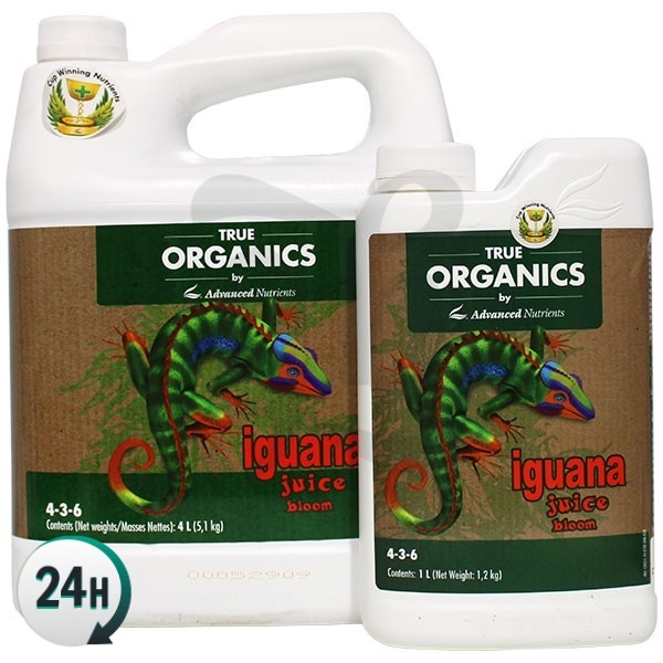 Botes de Organic Iguana Juice Bloom