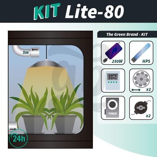 Kit de cultivo interior completo Lite 80