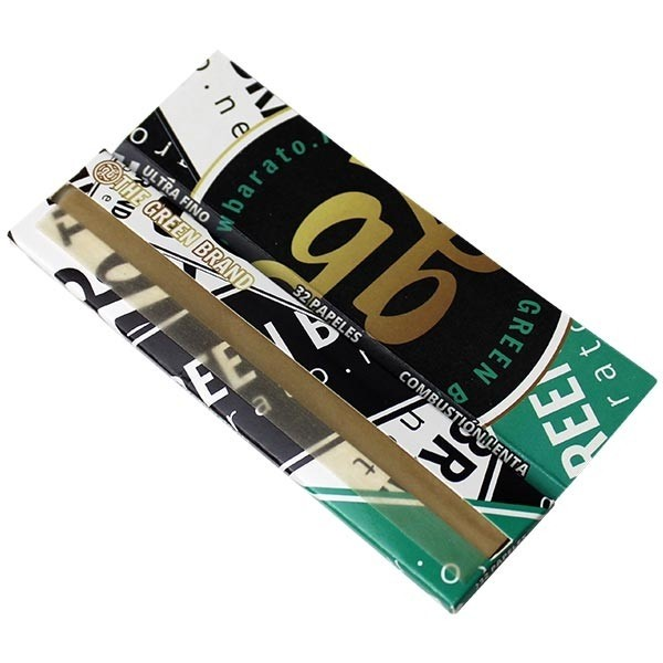 GB Stickers King Size Slim Rolling Papers Green Version