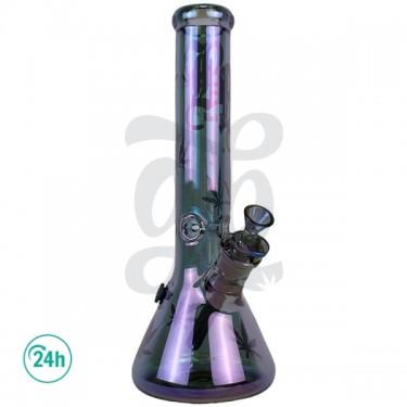Purple Magic Glass Bong 36 cm Front View