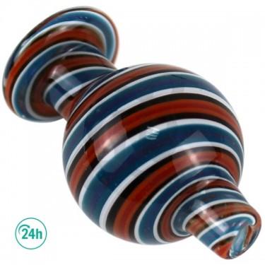 Karb Cap Spiral Blue White Red