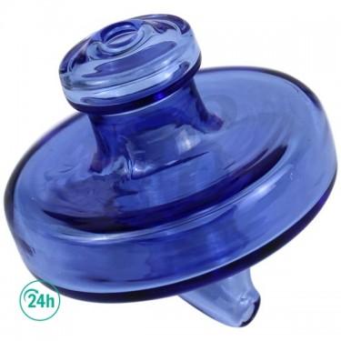 Glass Karb Cap Blue