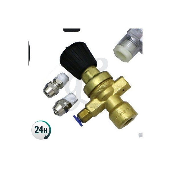 Disposable-bottle CO2 valve