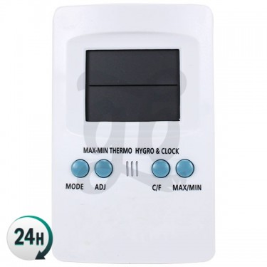 Termo-higrómetro max-min digital