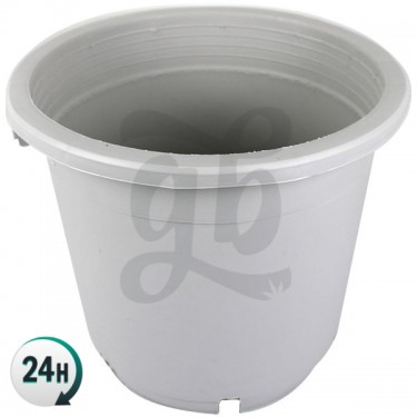 Large White Flower Pot with Handles