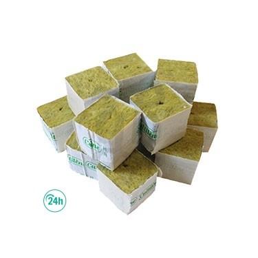 Taco lana de roca para esquejes 5 x 5 x 5 cm