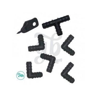 Set de piezas para tubo de 16 mm