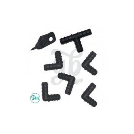 Set de piezas para tubo de 16mm