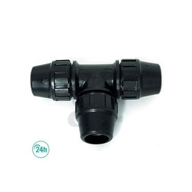Unión en T de 25 mm