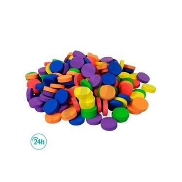Discos collarín de neopreno de colores