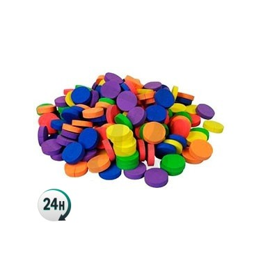Discos collarin neopreno de colores 5.5 cm para cultivo de marihuana