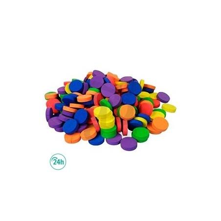 Discos Collarin Neopreno de Colores 5.5cm Neptune 190 u.
