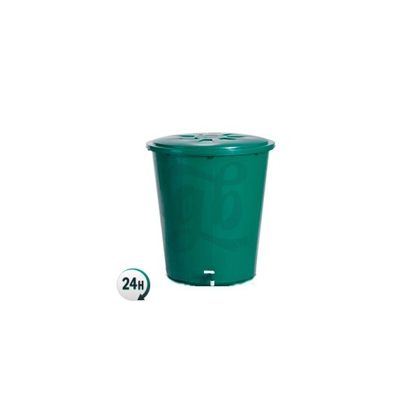 Round Green Tank with Lid