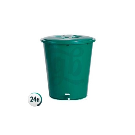 Depósito redondo verde con tapa