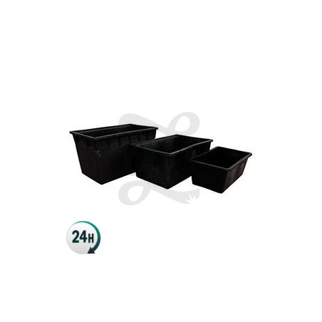 Black Plastic Rectangular Water Tank