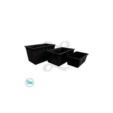 Réservoir rectangulaire en plastique noir