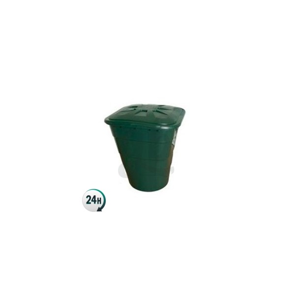 Square Green Tank with Lid