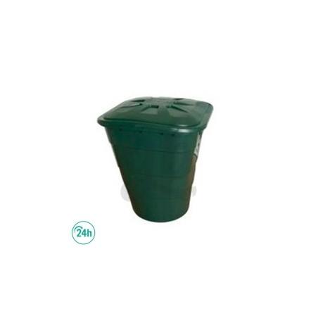Depósito cuadrado verde con tapa