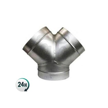 Aluminum Y-connector for ventilation tubes
