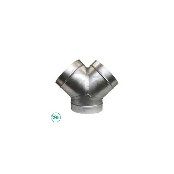 Aluminium Y-connector for ventilation tubes
