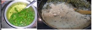 helado de vainilla cannabico foto de hojas en agua y leche