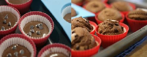 Muffins de chocolate con Marihuana