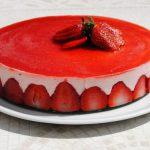 Tarte de yaourt et fraises