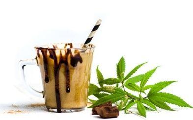 batido de cafe con cannabis