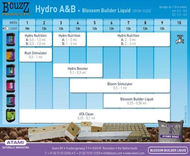 Hydro A&B y Blossom Builder Liquid