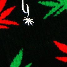 Negro / Hojas rojas y verdes
