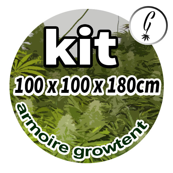 Kit Armoire Grow Tent 1x1x1.8m